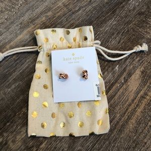 Kate spade rose gold knot earrings